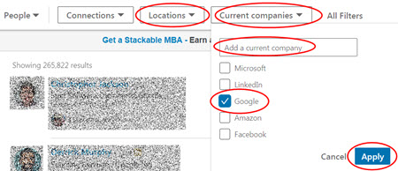 LinkedIn People Search by Current Company