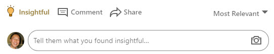 Adding comments to a LinkedIn post