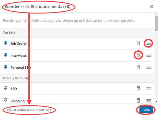 Manage Your LinkedIn Profile's Skills and Endorsements