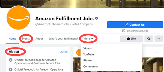 Employer Facebook Company Pages
