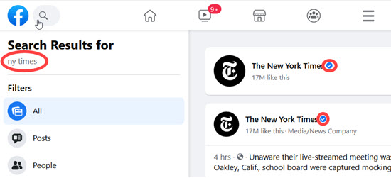 NY Times Facebook Page